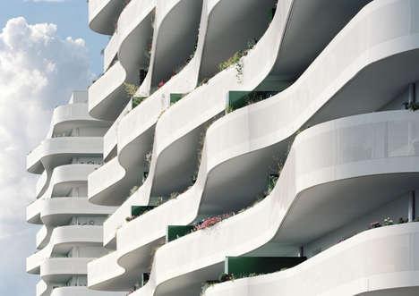 Undulating Balcony Architecture