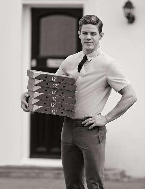 Retro Delivery Man Editorials