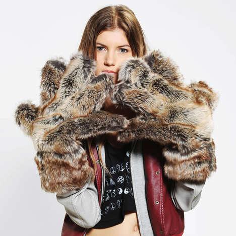 Furry Bear Mitts