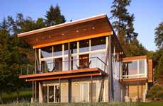 Island Chalet Residences - The Vashon Island Cabin Features a Daylight Basement