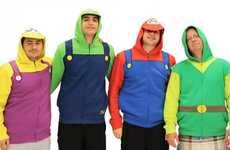 8-Bit Character Hoodies - These Hooded Sweatshirts Reference the Mario Brothers and Link