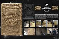 Pizza Dough Posters - Domino's 'Posteros' Crust Food Pizza Rises Above the Rest