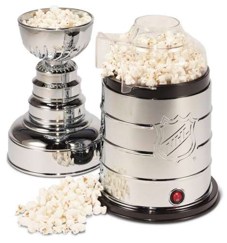Trophy Popcorn Poppers - The Stanley Cup Popcorn Machine is a Great Replica of the Real Thing
