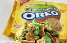 Cookie-Coated Caramel Apples - DudeFoods' Coated Caramel Apple Uses Oreo's Caramel Apple Cookies