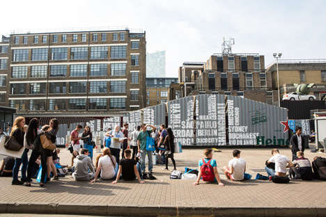 Alcohol Pop-Up Lounges - The Heineken Pop-Up City Lounge Debuted at the London Design Festival
