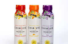 Chia Seed Beverages - ChiaVie's Ground Chia Seed Drink is Loaded with Good-For-You Things