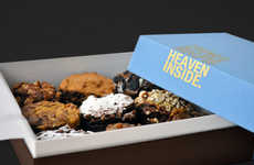 Decadent Brownie Boxes - Brownerie's Dessert Box Packaging Likens Its Treats to Heaven