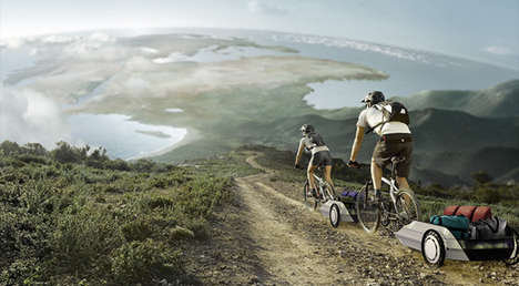 Versatile Bike Trailers - Alejandra Castelao's Concept is Designed for Destination Camping