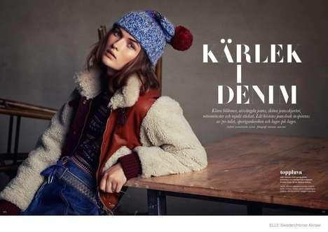 Sporty Denim Fashion