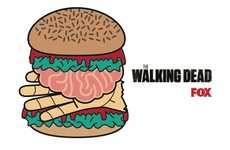 Promotional Zombie Burgers - These Fake Human Flesh Burgers Celebrate the Walking Dead Premiere