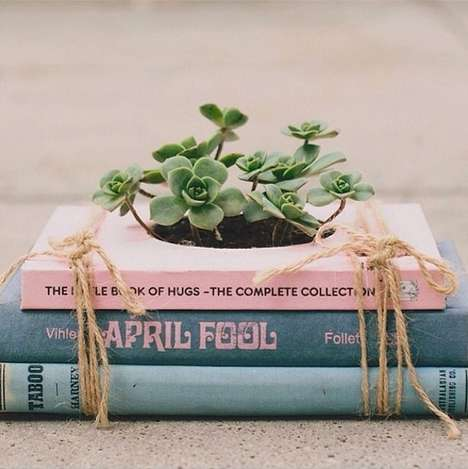 DIY Growing Books - Novel Planter Kits Allow People to Create Refreshing Vintage Home Decor