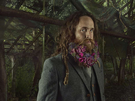 Florally Bearded Male Portraits