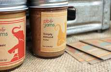 70s-Style Jam Packaging - The PB & Jams Branding Has a Retro Feel