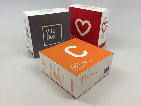 Independent Vitamin Packaging - Vita Box Separates Medicine into Daily Doses