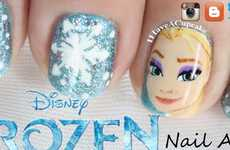 Ice Princess Nail Art - I Have a Cupcake Nail Art Creates a Frozen Manicure Inspired by Elsa