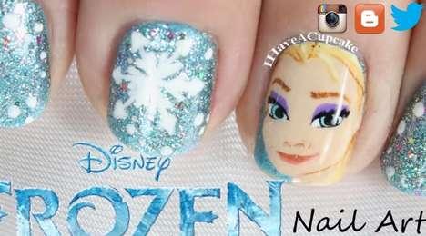 Ice Princess Nail Art
