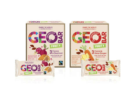 Fruity Fair Trade Snacks - Geobar's Natural Energy Bars Are Healthy & Fair Trade