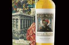 Whimsical Whisky Branding - The Entertainer Whisky Packaging Induces Wonder and Visual Interest