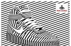 Op Art Sneaker Ads - Alex Trochut's Footlocker Ads Celebrate the Retailer's Branding