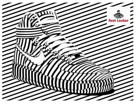 Op Art Sneaker Ads