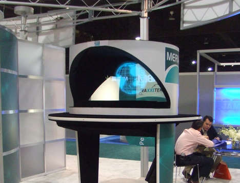 Holographic Tech Kiosks - This Hologram Projector Impresses With Animated 3D Presentations