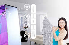 Ultraviolet Laundry Lines - The Yoga Light Dryer Purifies Your Clean Clothes for Optimal Freshness