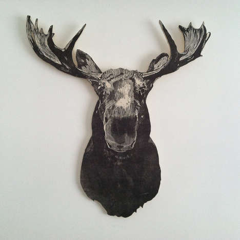 Two-Dimensional Faux Taxidermy