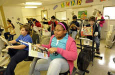 Literacy-Enhancing Desk Bikes - This School Program Gets Children Exercising and Fights Obesity