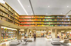 Color-Coordinated Libraries (UPDATE) - The Saraiva Bookstore is Organized to Invite Users to Browse