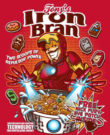 Superhero Breakfast Cereals - Bamboota and Fernandez Create Their Own Line of Marvel-Themed Cereals