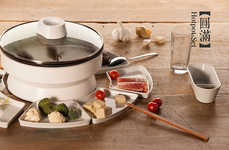 Encircled Culinary Collections - The Hotpot-Set Rearranges the Chinese Meal for Mess-Free Sharing