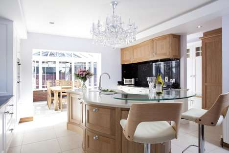 Twisted Kitchen Counters - This Contemporary Kitchen Design Adds a Modern Touch to Homes