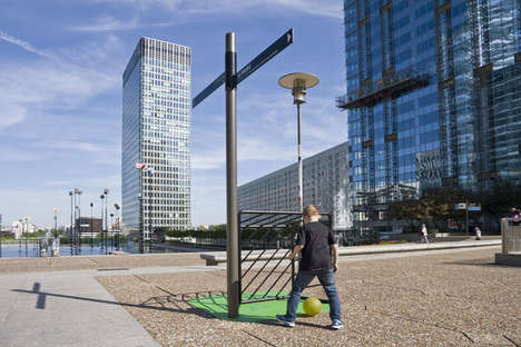 Urban Furniture Installations - 'Mens Sana in Corpore Sano' Promotes Sports in the City