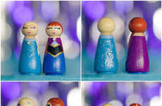 Wooden Disney Princess Toys - Etry's Frozen Peg Dolls Celebrate the Animated Film