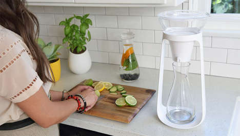 Pour-Over Water Filters - Water Fall by KOR is a Smart and Simple At-Home Water Filter