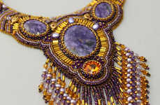 Beaded Statement Necklaces - Etsy's Li Telle Jewelry Shop Features Hand-Embroidered Accessories
