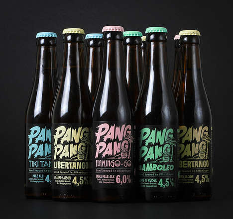 Character-Driven Beer Branding - PangPang Brewery Has a Vibrant and Memorable Design