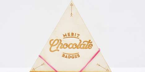 Merited Chocolate Packaging - The Merit Chocolate Badges Make Sure You've Earned Your Treat