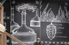 Impressive Chalk Murals - Ben Johnston Creates Large Scale Illustration for the Sierra Nevada Bar