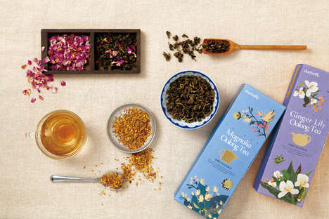 Fresh Floral Tea Packaging