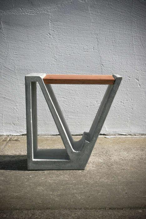 Concrete-Wood Furniture