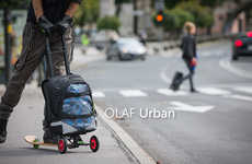 Slick Scootering Suitcases - The Olaf Scooter Offers Your Possessions and Your Person an Easy Ride