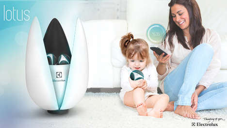 Petaled Air Purifiers - The Electrolux Lotus Blossoms with Atmosphere-Improving Features