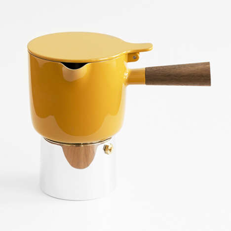 Canary Coffee Brewers - This Designer Coffee Pot from Anderssen & Voll has a Sculptural Element