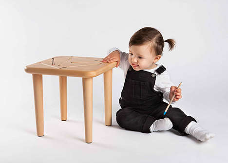 Crayon-Embedded Consoles - The Phant Chair Incorporates Spaces for Kids to Stash Colored Pencils