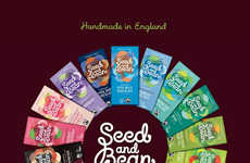 Ethical Chocolate Snacks - Organic Seed and Bean Chocolate Marries Bright Branding with Great Taste