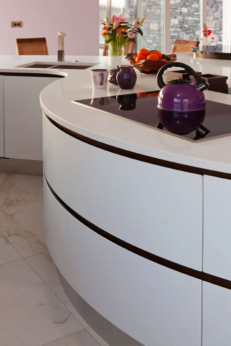 Funky Geometric Kitchens - This Contemporary Kitchen Design is Both Modern and Functional