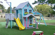 Whimsical Outdoor Playhouses - This Playhouse for Kids Takes the Shape of a Giant Dollhouse
