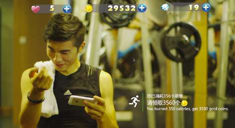 Workout-Converting Game Rewards - This Gamified Fitness App Offers In-Game Bonuses for Exercise