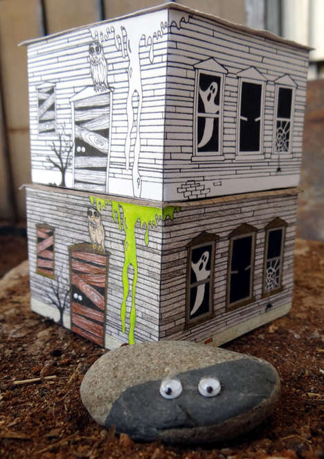 Halloween Coloring Projects - The Haunted Haus by Moses Knows is a Three-Dimensional Activity